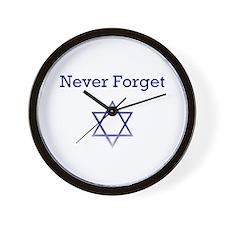 Holocaust Remembrance Star of David Wall Clock