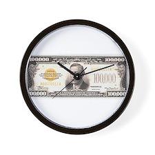 $100,000 Bill Wall Clock