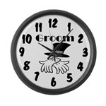 Groom Large Wall Clock