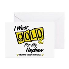 I Wear Gold For My Nephew 8 Greeting Cards (Pk of