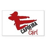 Capoeira Girl Rectangle Sticker