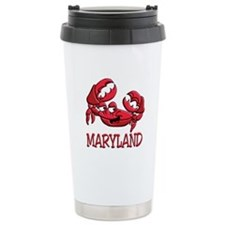 Maryland Crab Ceramic Travel Mug