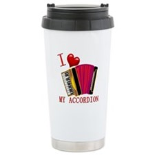 I Love My ACCORDION Ceramic Travel Mug