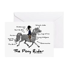 Pony Rider Equestrian Greeting Card