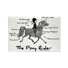 Pony Rider Equestrian Rectangle Magnet