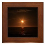 Pacific Grove Sunset Framed Tile