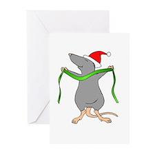 Christmas Rat Hug Greeting Cards (Pk of 10)