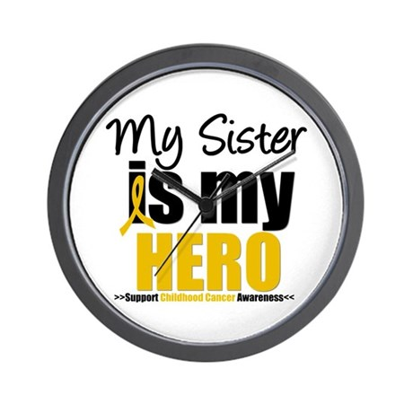 ChildhoodCancer Sister Wall Clock