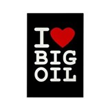 I &amp;lt;3 Big Oil Rectangle Magnet (10 pack)