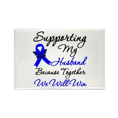 ColonCancerHusband Rectangle Magnet
