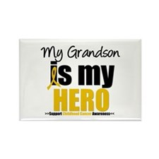 ChildhoodCancer Grandson Rectangle Magnet (10 pack