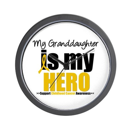 ChildhoodCancer Granddaughter Wall Clock