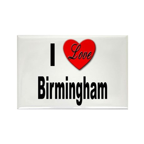 I Love Birmingham Rectangle Magnet (10 pack)
