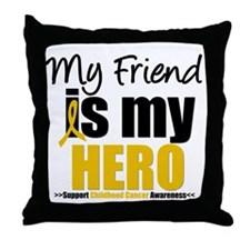 ChildhoodCancer Friend Throw Pillow