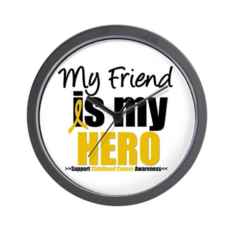ChildhoodCancer Friend Wall Clock