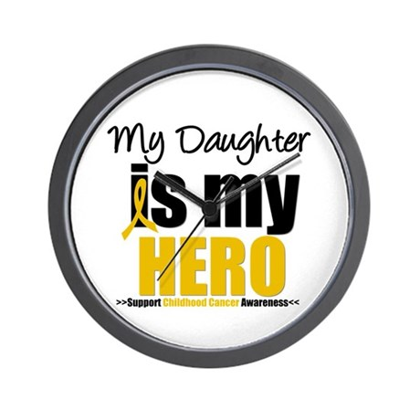 ChildhoodCancer Daughter Wall Clock
