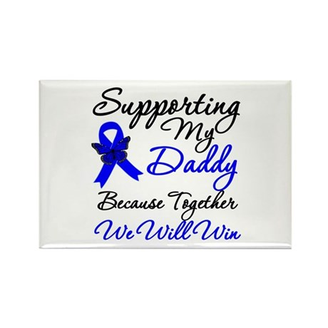 ColonCancerSupport Daddy Rectangle Magnet