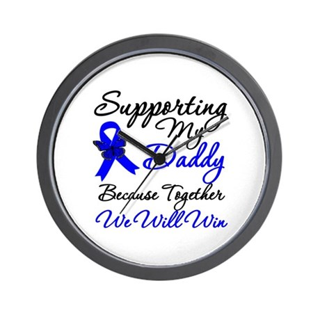 ColonCancerSupport Daddy Wall Clock