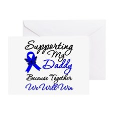 ColonCancerSupport Daddy Greeting Card