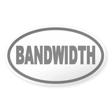 Bandwidth Oval Oval Decal