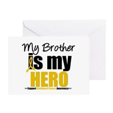 ChildhoodCancer Brother Greeting Card