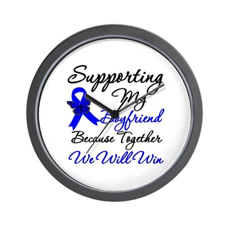 ColonCancerSupport Boyfriend Wall Clock
