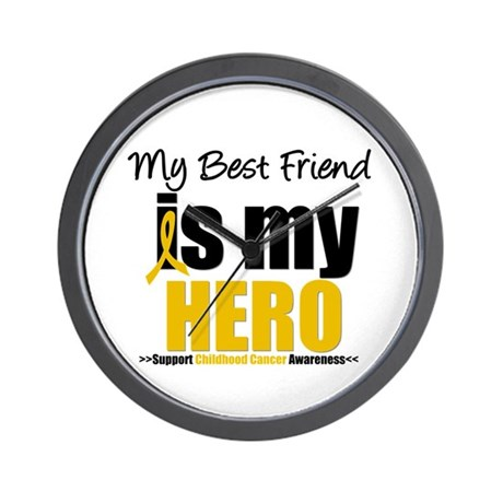 ChildhoodCancer Best Friend Wall Clock