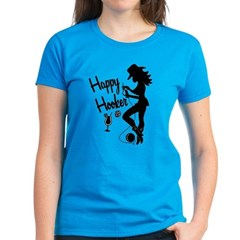 Happy Hooker Women's Dark T-Shirt