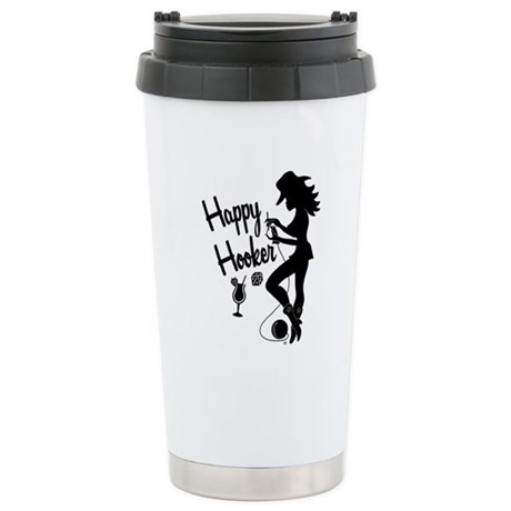 Happy Hooker Ceramic Travel Mug