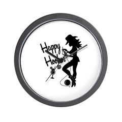 Happy Hooker Wall Clock