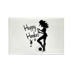 Happy Hooker Rectangle Magnet