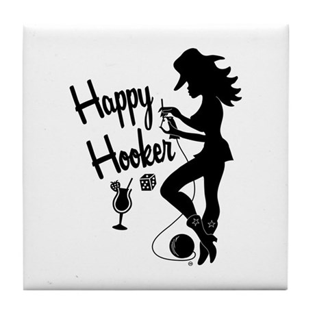 Happy Hooker Tile Coaster