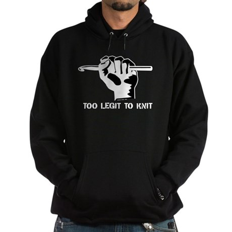 Too Legit to Knit Hoodie (dark)