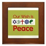 Our Wish PEACE Framed Tile