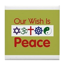 Our Wish PEACE Tile Coaster