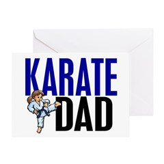 Karate Dad (OF GIRL) 3 Greeting Card