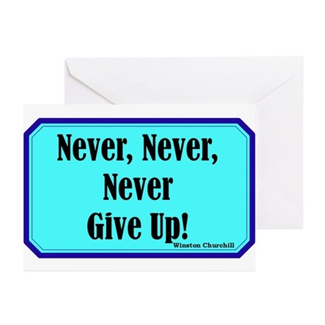 """""""Never Give Up"""" Greeting Cards (Pk of 20)"""