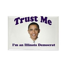 Trust Me I'm an Illinois Demo Rectangle Magnet