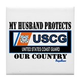 Husband Coast Guard Tile Coaster
