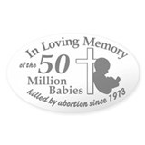 Pro Life - In Loving Memory Oval Bumper Stickers