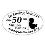 Pro Life - In Loving Memory Oval Decal