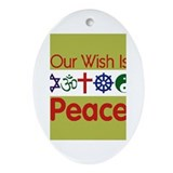 Our Wish PEACE Oval Ornament