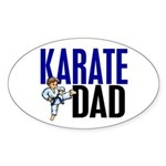 Karate Dad (OF BOY) 3 Oval Sticker