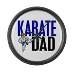 Karate Dad (OF BOY) 3 Large Wall Clock