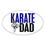 Karate Dad (OF BOY) 3 Oval Sticker (10 pk)