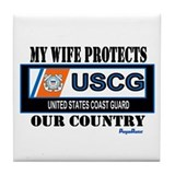 Wife Coast Guard Tile Coaster