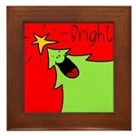 XMAS bright Framed Tile