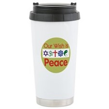Our Wish PEACE Ceramic Travel Mug