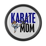 Karate Mom (OF GIRL) 3 Large Wall Clock