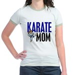 Karate Mom (OF GIRL) 3 Jr. Ringer T-Shirt